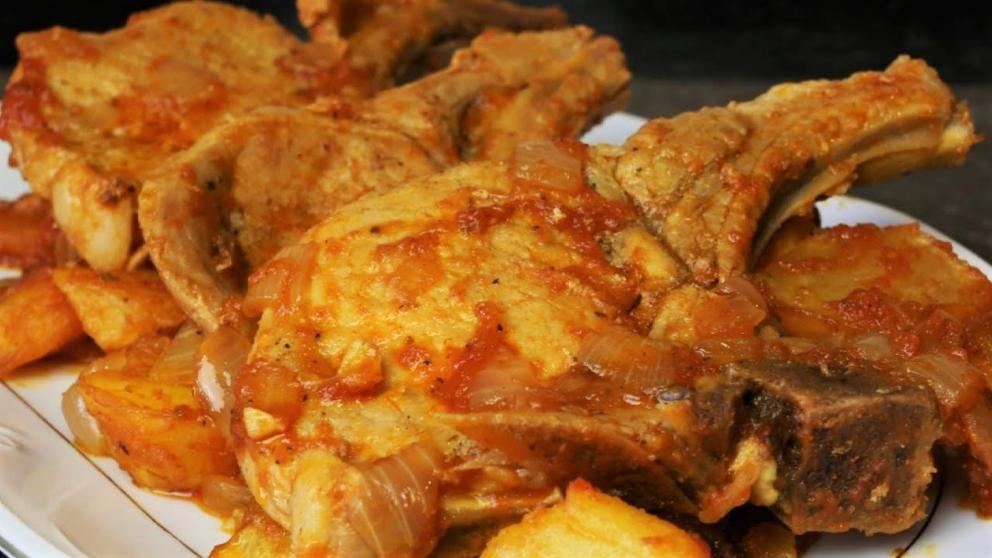 Receta De Chuletas De Cerdo En Salsa De Cebolla