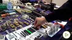 La banda de butroneros escondía sus herramientas en un trastero de Madrid.