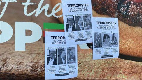 Imagen de uno de los carteles. Foto: @periodistes_cat