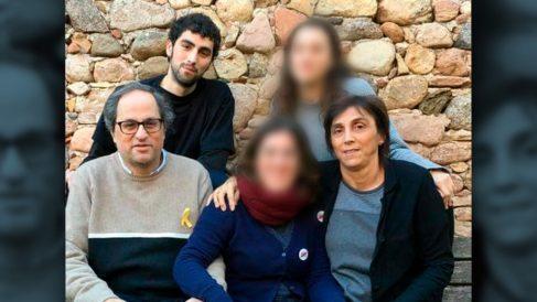 El presidente de la Generalitat, Quim Torra, y su familia.
