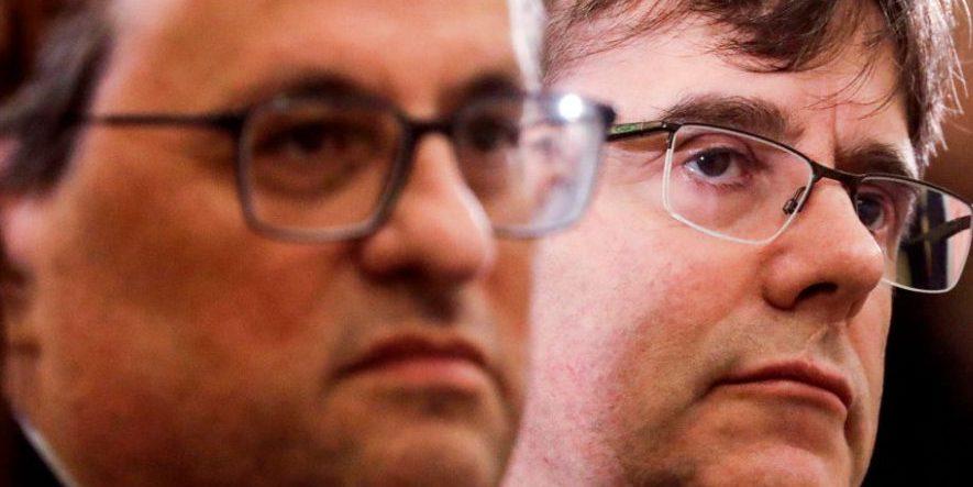 Carles Puigdemont y Quim Torra @Getty