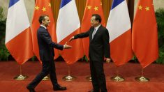 Emmanuel Macron y Xi Jinping. Foto: AFP