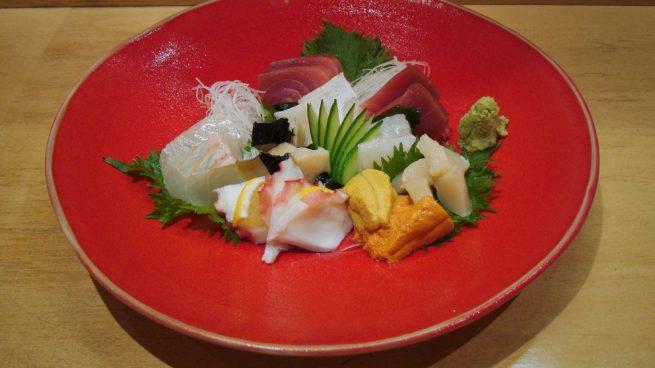 Sashimi de lenguado