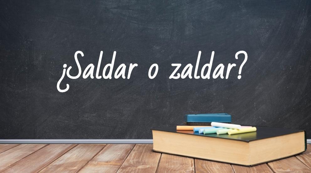 Se escribe saldar o zaldar