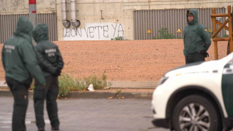 La Guardia Civil registró el estadio del Córdoba. (Foto: EFE)