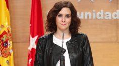 Isabel Díaz Ayuso, en la sala de prensa de la Real Casa de Correos. (Foto. Comunidad)