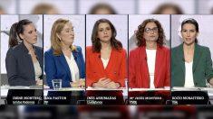 Las representantes de los principales partidos, en el debate de La Sexta.