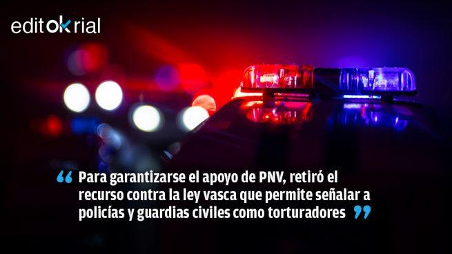 Sánchez vende la dignidad de Policía y Guardia Civil por un puñado de votos