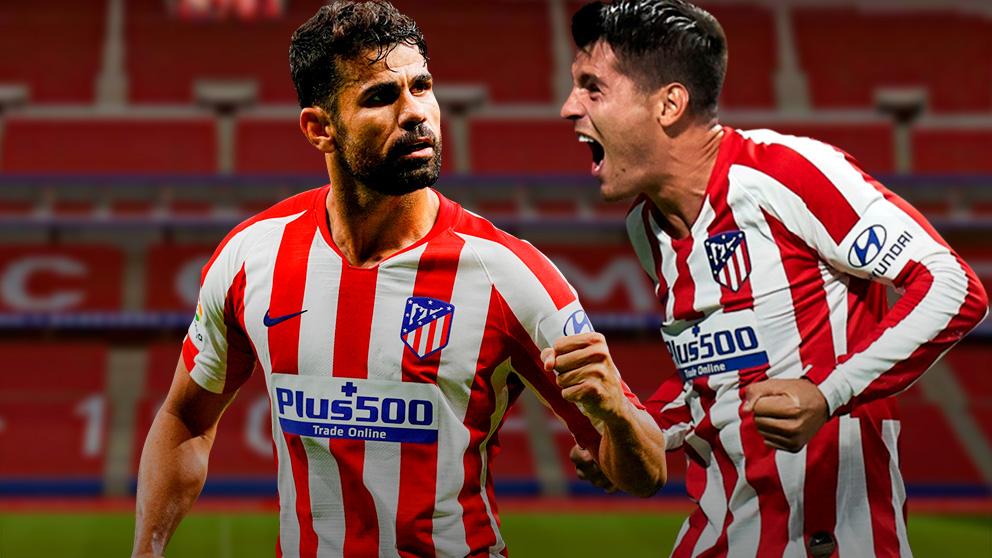 Morata y Diego Costa, las dos caras del Atlético de Madrid.