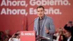 Pedro Sánchez en un mitin de partido. Foto: Europa Press