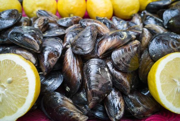 Mussels with green curry