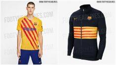 La camiseta con la que jugará el Barcelona en sus visitas a Madrid.