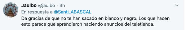 Abascal critica las fotos que la RTVE de Mateo elige de él: «Se les ha olvidado pintarme los cuernos»