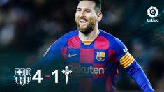 Leo Messi salvó la cabeza de Ernesto Valverde.