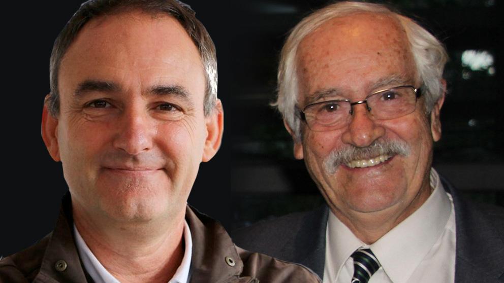 El candidato de Podemos por Ciudad Real  Luis Benítez de Lugo Enrich y su padre, el abogado Mariano Benítez de Lugo.