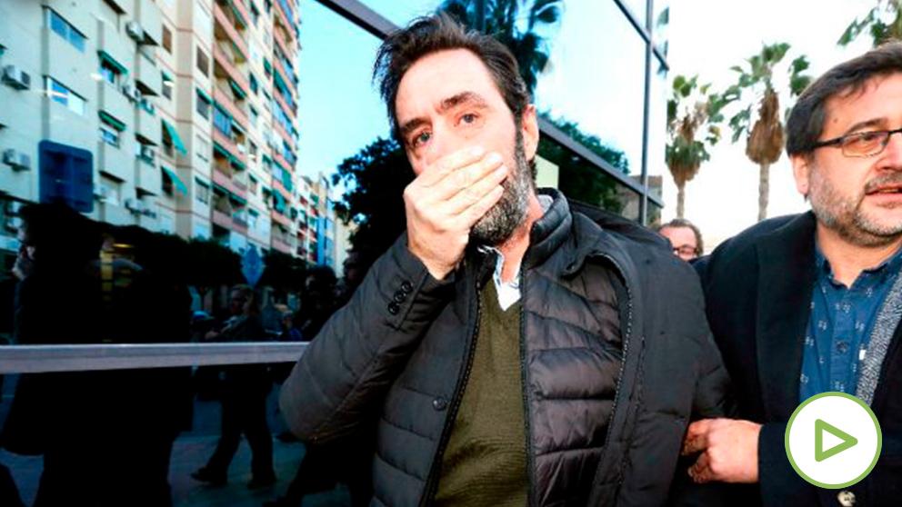 Miguel López a su salida del juzgado tras conocer el veredicto (Foto: EFE).