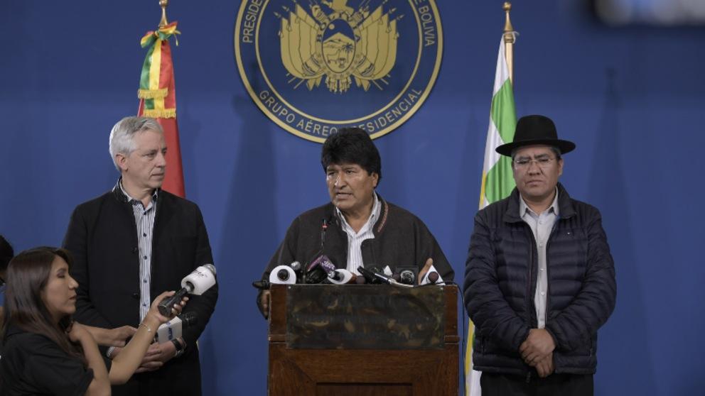Evo Morales convoca una mesa de diálogo con la oposición para «pacificar Bolivia». Foto: EP