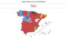 Consulta los resultados por provincias.