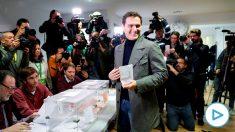 Albert Rivera vota. Foto:EFE