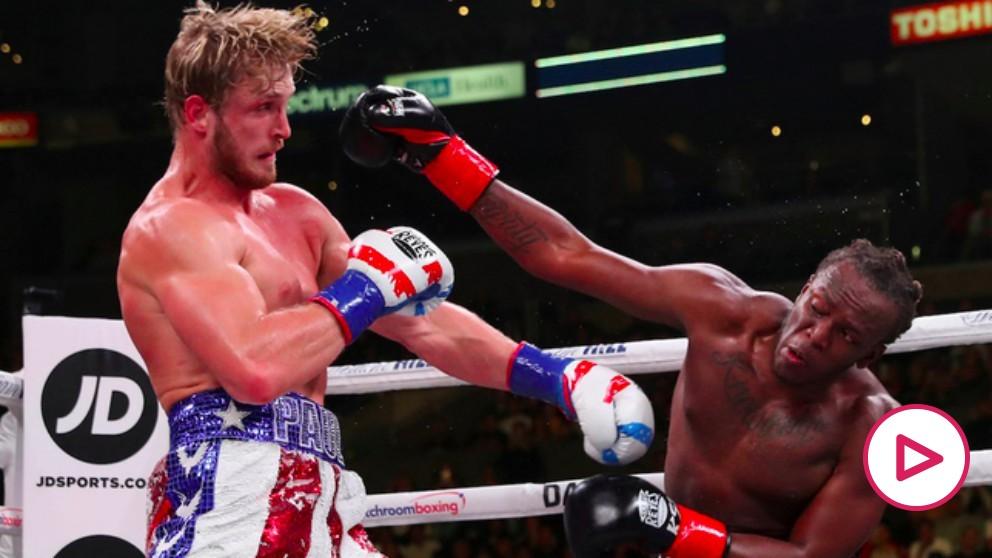 KSI y Logan Paul 2 disputaron el combate de youtubers. @MatchroomBoxing