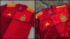 Así es la camiseta que España lucirá en la próxima Eurocopa.