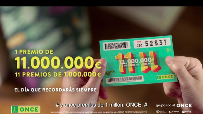 El número 71339 con serie 002, primer premio del Sorteo del 11 del 11 de la ONCE con 11.000.000 de euros