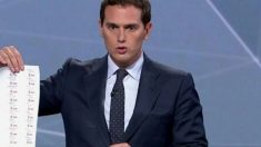 Albert Rivera, ex líder de Ciudadanos (C's), en un debate electoral.
