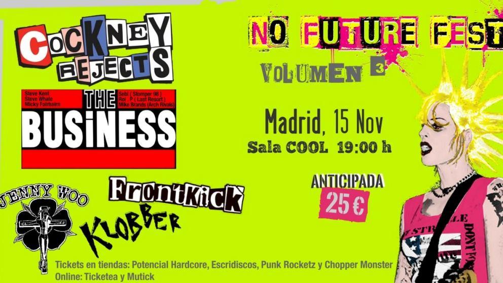 El festival No Future Fest ya tiene el cartel de sus dos próximas ediciones