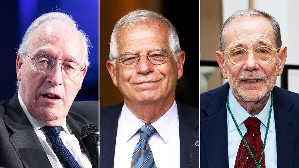 Manuel Pizarro, Josep Borrell y Javier Solana.