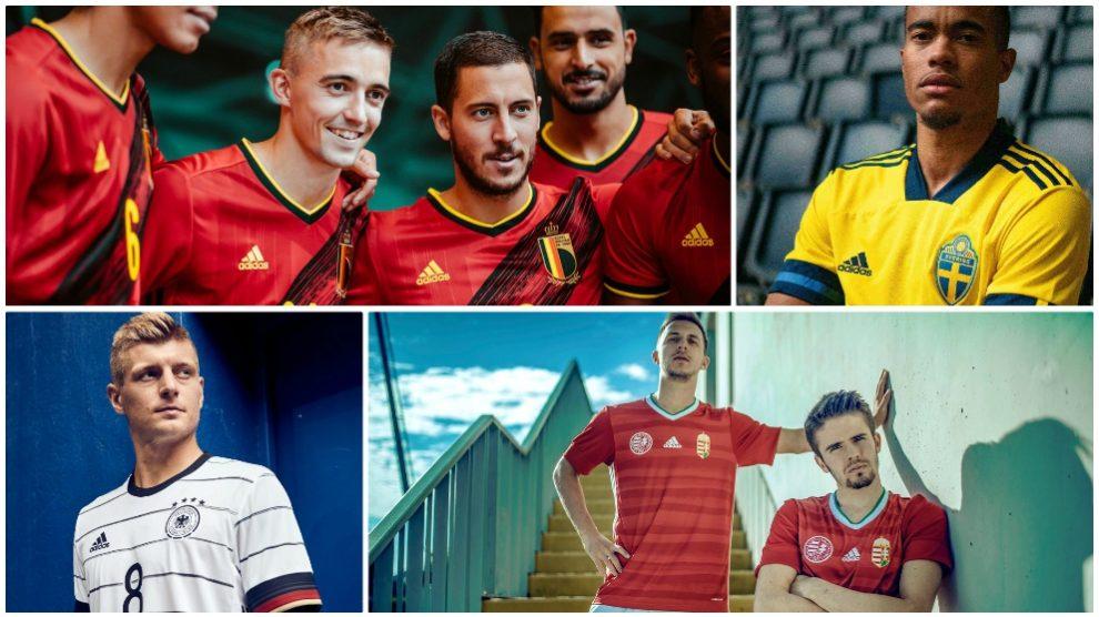 Las nuevas elásticas de las selecciones para la Eurocopa 2020.