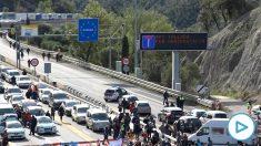 Cortan la frontera con Francia en La Junquera tras el llamamiento del 'Tsunami Democràtic'
