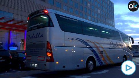 Autobus fletado por el sindicato de estudiantes independentistas