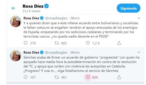 Rosa Díez tras la «traición» de Sánchez: «¿No queda nadie decente en el PSOE?»