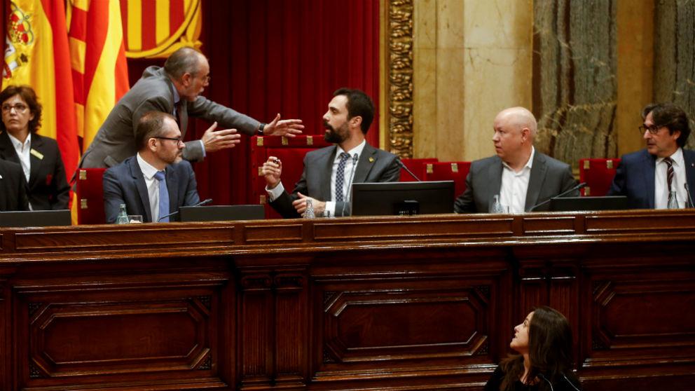 Una imagen del Parlament durante la votación por la autodeterminación