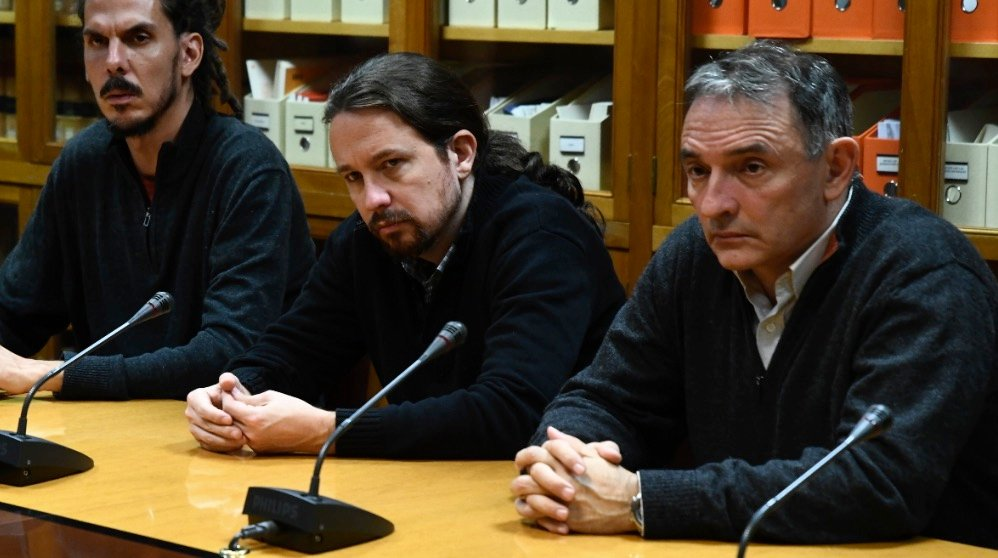 Pablo Iglesias junto a Enrique Santiago, líder del PCE (Foto: Podemos).