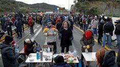 El bloqueo de La Junquera por parte del 'Tsunami'.