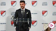 David Villa durante un acto en la MLS. (AFP)
