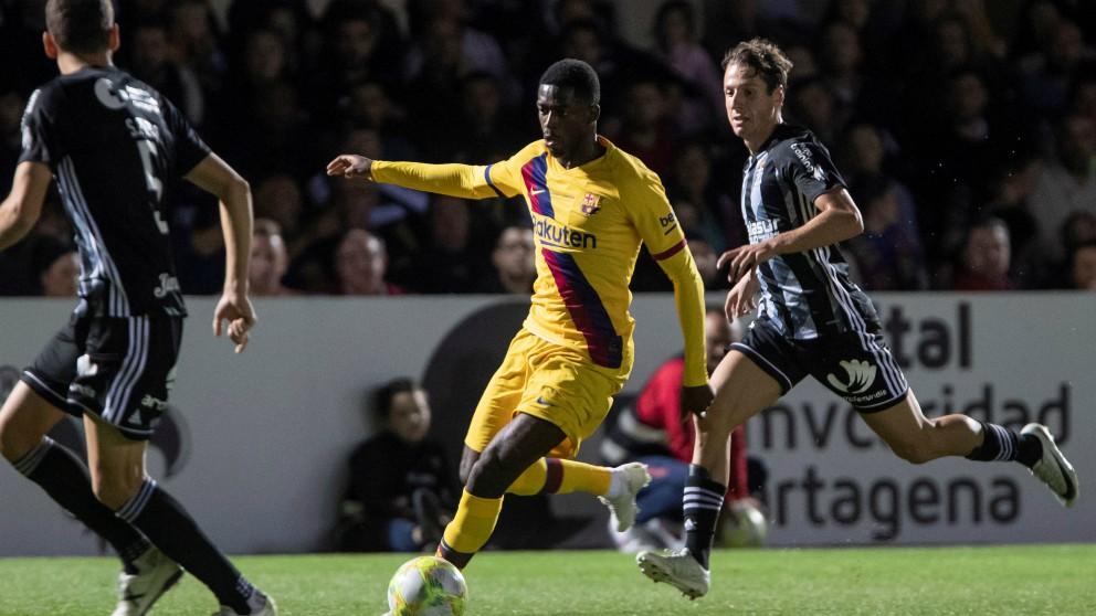 El Barcelona venció al Cartagena en un partido benéfico.