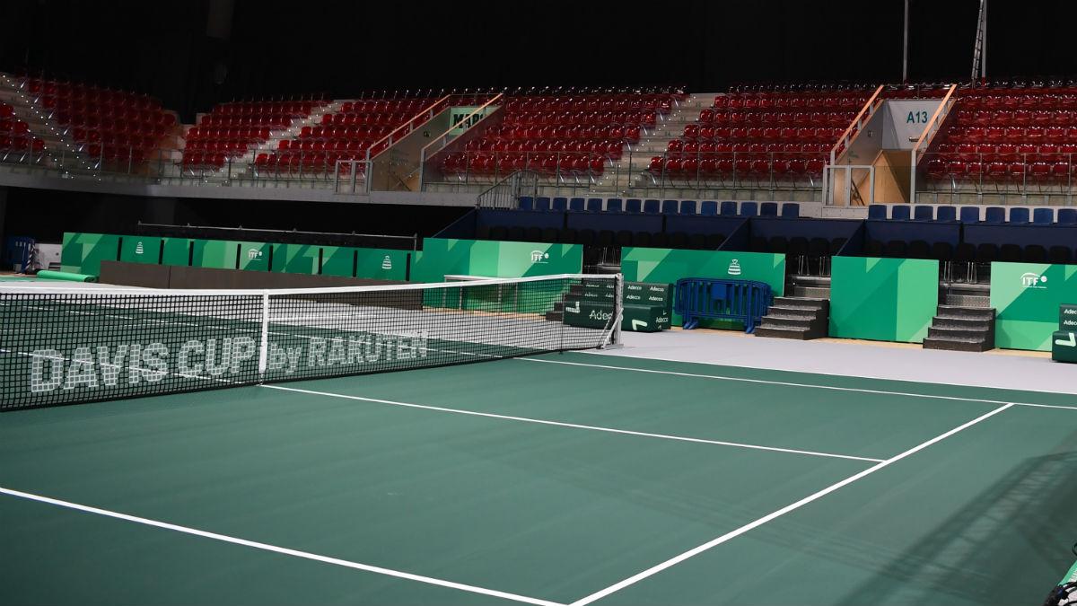 La Caja Mágica ya está preparada para las finales de la Copa Davis (AFP).