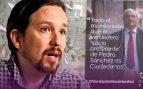 Lo que decían los carteles electorales de Podemos: «El socio preferente de Sánchez es C's»