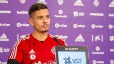 Javi Sánchez en rueda de prensa (Real Valladolid)