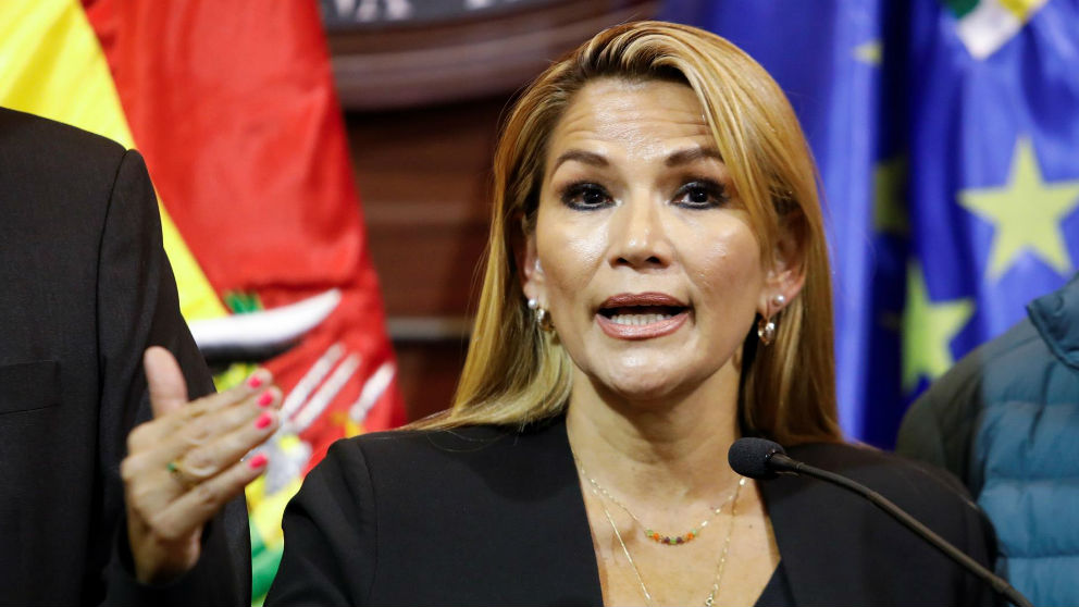 Jeanine Añez, ex presidenta de Bolivia tras la dimisión de Evo Morales. (Ep)