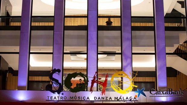 """Vista esterior del Teatro del Soho en el que se está poniendo en escena el musical """"A Chorus Line"""", que codirige y protagoniza el actor Antonio Banderas. El estreno se producirá este viernes, 15 de noviembre, en lo que supondrá la inauguración de este teatro, el espacio escénico que ha creado Banderas en Málaga. Foto: EFE"""