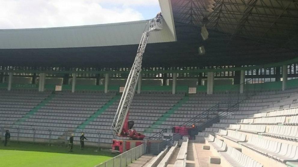 Desperfectos en el estadio de A Malata (Sevilla Fútbol Club)