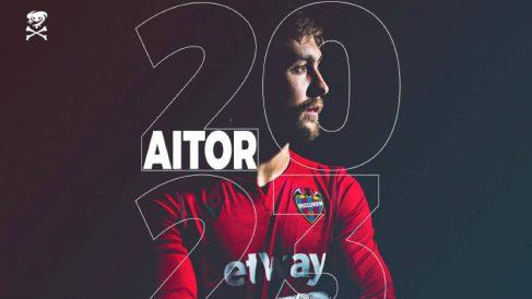 Aitor Fernández renueva con el Levante hasta 2023 (@LevanteUD)