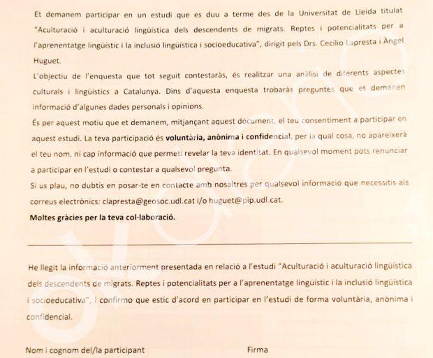 Las listas negras de Torra: hace una encuesta en los colegios para saber quién no se siente separatista