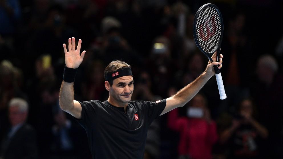 Roger Federer, durante un partido de la Copa Masters 2019. (AFP)