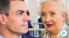 La Infanta Pilar de Borbón y Pedro Sánchez