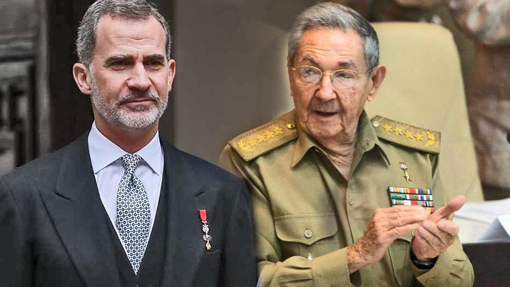 Felipe VI y Raúl Castro