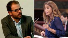 Daniel Viondi, diputado del PSOE por Madrid, y Patricia Reyes, dirigente de Ciudadanos.